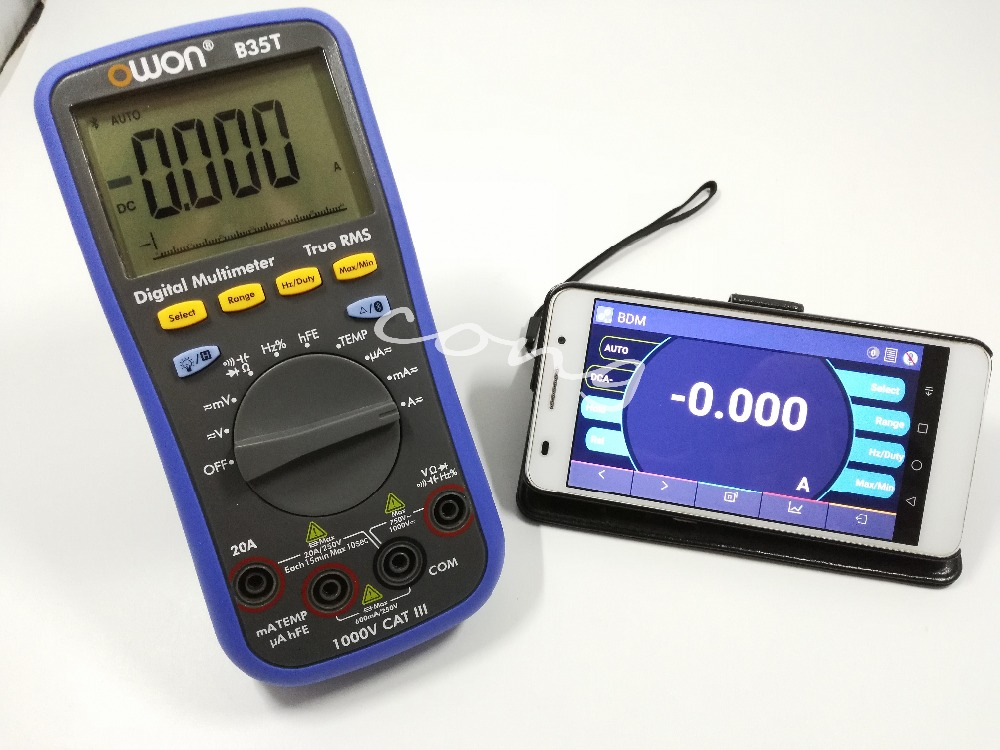 Owon B35T Digital Multimeter with Temperature Meter, Bluetooth Interface with TrueRMS Support Android 4.3 or above & IOS