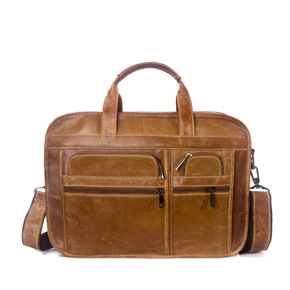 Genuine Leather Men's Bag Bolso Hombre Genuine Leather Business Men Handbags Briefcase Large Laptop Computer Bag Bolso Ordenador prof press дневник школьный черноземья 40 листов