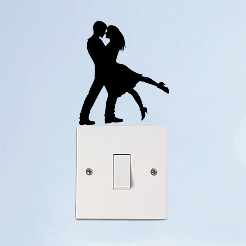 Romantic Tango Dance Fashion Vinyl Wall Stickers Room Switch Decals 5WS1526 ...