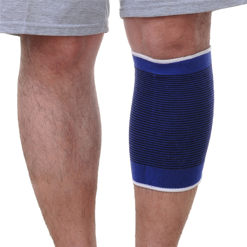 High Quality Knee Pads Support Leg Arthritis Injury Sleeve Elasticated Bandage Elbow Pad Kneepads Outdoor Sport Protection Blue
