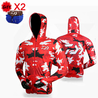Camouflage Hooded Fishing Clothing Breathable Ice Silk Fishing Jersey Quick Dry Long Sleeve Sunproof Fishing Suit Shirt