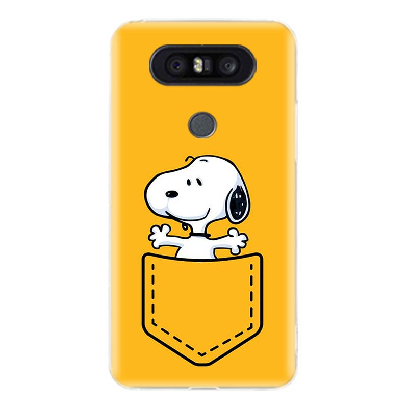 Snoopys And Woodstocks Durable Phone Case For LG V40 G6 G7 Q6 Q8 Q7 G5 G4 V30 V20 V10 K8 K10 2018 2017 Customized Cases Coque in Half wrapped Cases from Cellphones Telecommunications