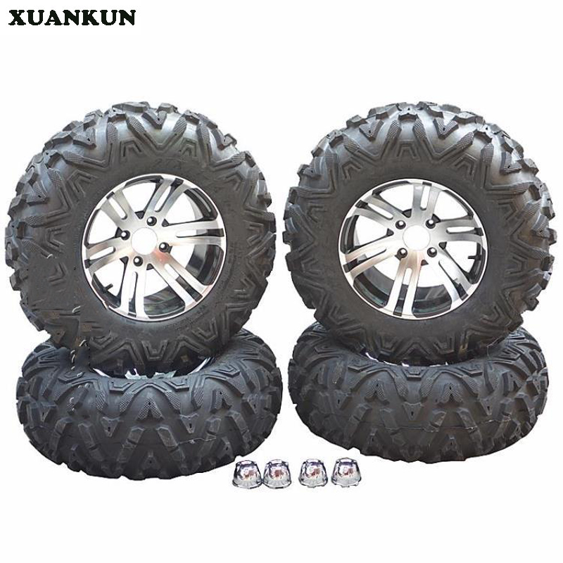 XUANKUN Karting Quad Bike 14 Inch Tires A Word 27X9-14 27X11-14 Inch Tires Aluminum Alloy Wheels 1 9 inch rubber tires