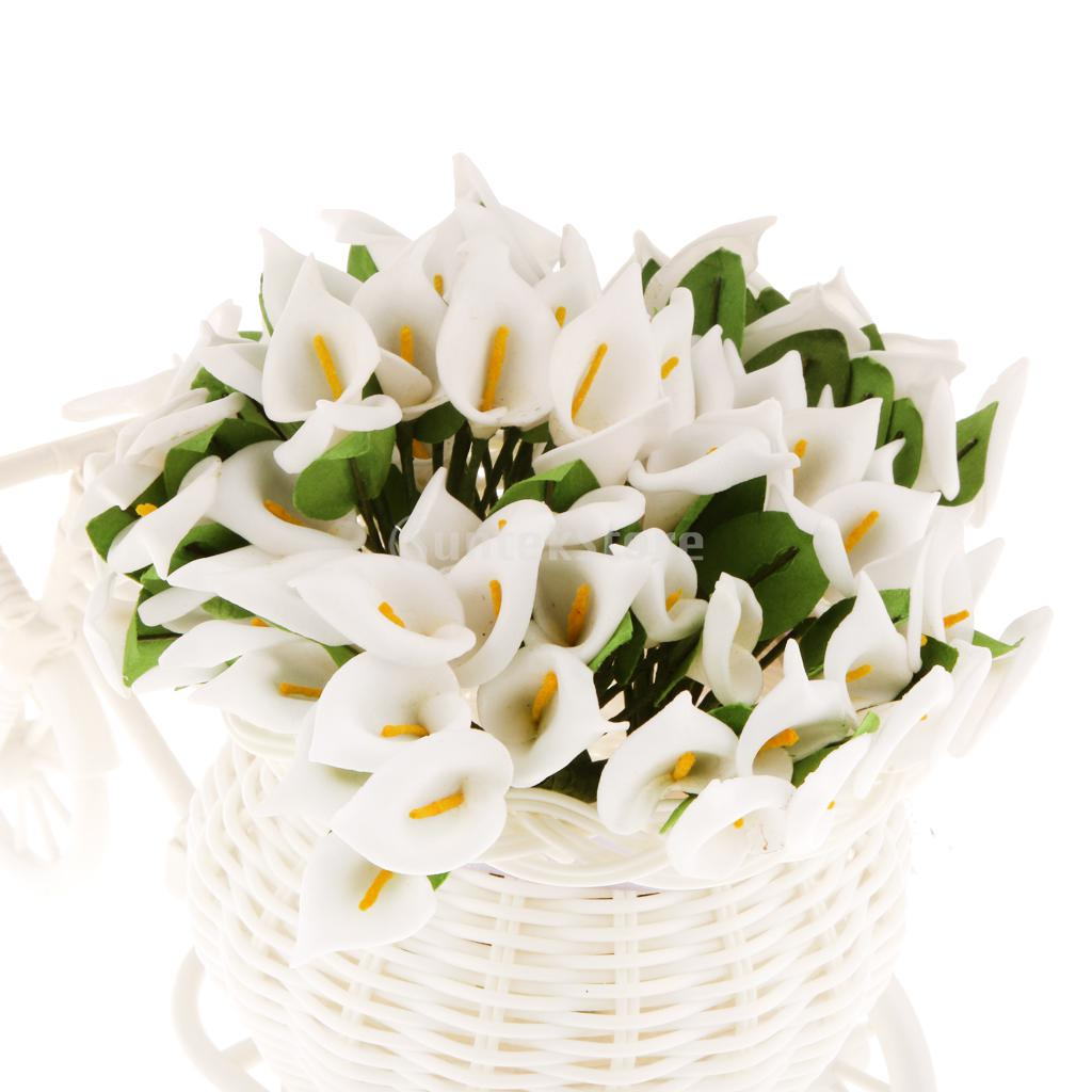 Wedding lilies promotion shop for promotional wedding lilies on 144pcs artificial calla lily bridal wedding bouquet foral head flower home party decor dhlflorist Choice Image
