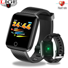 LIGE Smart Watch Men Fitness Tracker Blood Pressure Heart Rate Monitor Ip67 Waterproof Bluetooth Smart Bracelet For Android iOS bluetooth watch smart watches heart rate monitor bracelet blood pressure waterproof activity tracker smart watch for ios android