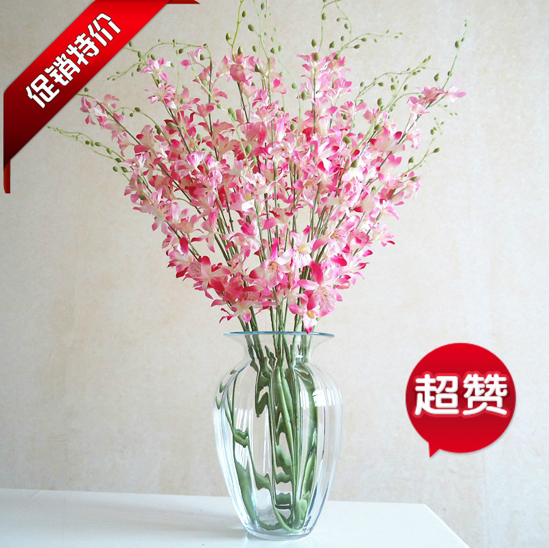 Hot selling hot selling quality silk flower decoration flower bowyer hot selling hot selling quality silk flower decoration flower bowyer orchid artificial flower aesthetic elegant dendrobium in artificial dried flowers mightylinksfo