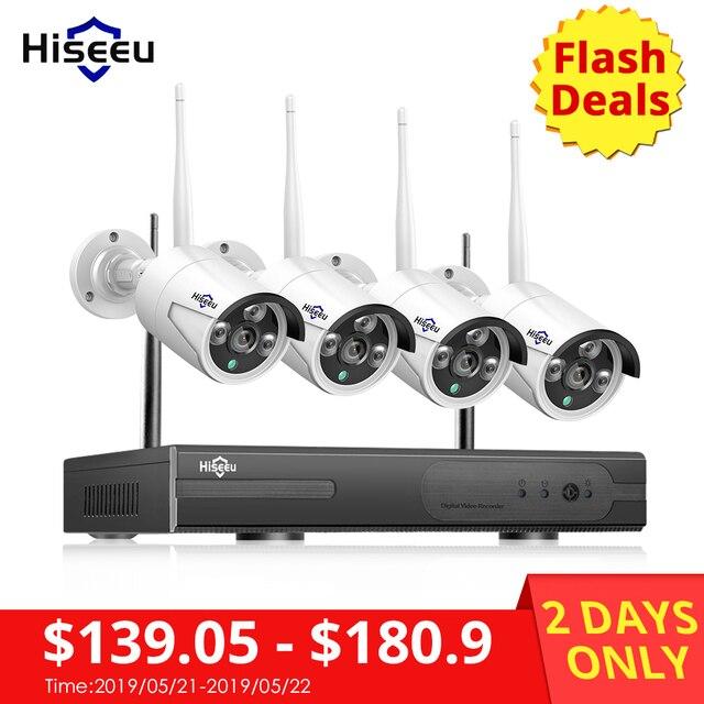 Hiseeu 8CH אלחוטי טלוויזיה במעגל סגור מערכת 1080 P 1 TB HDD 2MP NVR IP IR-CUT חיצוני CCTV-IP אבטחת מערכת ערכת מעקב וידאו
