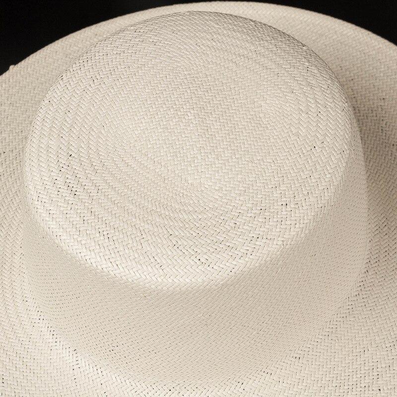 chapeau panama blanc fin léger fait à la main