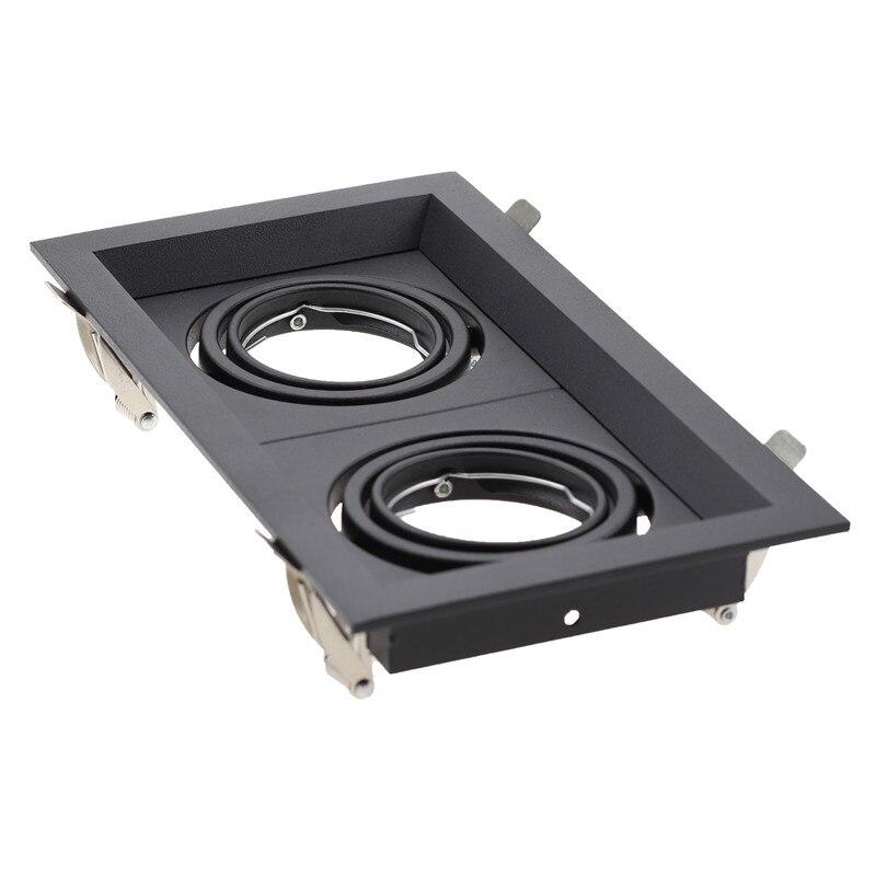 Square Embedded Led Ceiling Trim Rings Mr16 Halogen Bulb Light Fittings Holder Led Spotlight Gu10 Frame Led Down Light Fixture