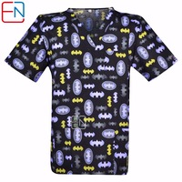 10 Designs In Hennar Men Medical Uniforms Classic Scrub Top With V Neck Short Sleeve 100