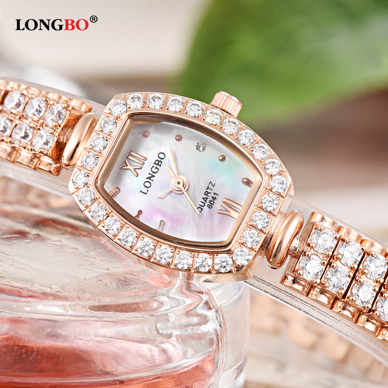 Women Watches Luxury Brand LONGBO Lady Watch Woman Rhinestone Wristwatches Fashion Crystal Watches Gift Watch Women Relogios
