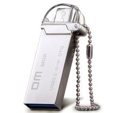 DM PD009 OTG USB 3.0 64 ГБ 32 ГБ 16 ГБ USB Flash Drive смартфон накопитель micro usb Портативный памяти для хранения металла usb stick