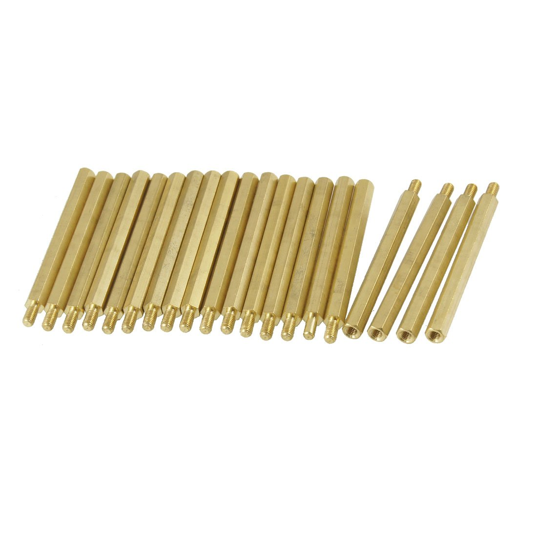 CLOS 20 Pcs M3 Male x M3 Female Hexagonal Thread PCB Standoff Spacer 50mm Body Length 20pcs m3 copper standoff spacer stud male to female m3 4 6mm hexagonal stud length 4 5 6 7 8 9 10 11 12mm