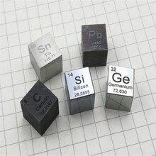 Металлы и элементы кубики с промежуточной таблицей длина стороны 10 мм W≥99. 95% высокая плотность Elemental collectionC Al Ni Ti Mo Cu Fe Sn Cr B