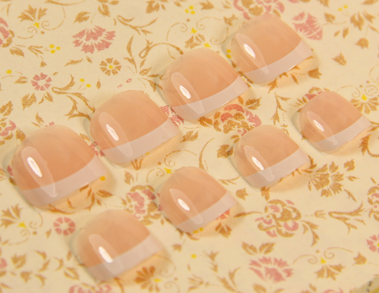 Классикалық француздық Fake Nails Toe Nails Tips - Маникюр - фото 5