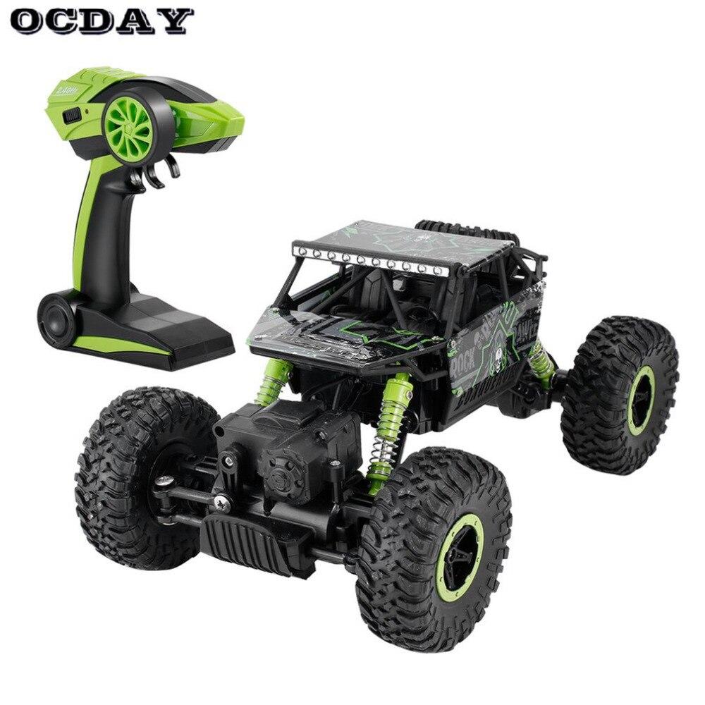OCDAY 2.4 GHz RC voiture 4WD roche chenille rallye escalade voiture 4x4 Double moteurs Bigfoot voiture télécommande modèle tout-terrain véhicule jouets
