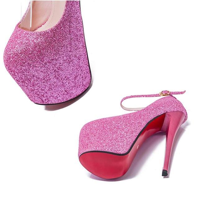 placeholder Big Size 35- 43 High Heels Women Sexy Super High Heel 20cm  Platform Nightclub Pumps 7de14553871c