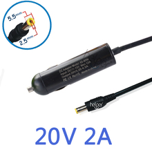 Automotive Adapter Charger for Lenovo Ideapad 20V 2A 40W 5.5×2.5mm Laptop computer S9 S10 M9 M10 U260 U310 ADP-40NH B PA-1400-12