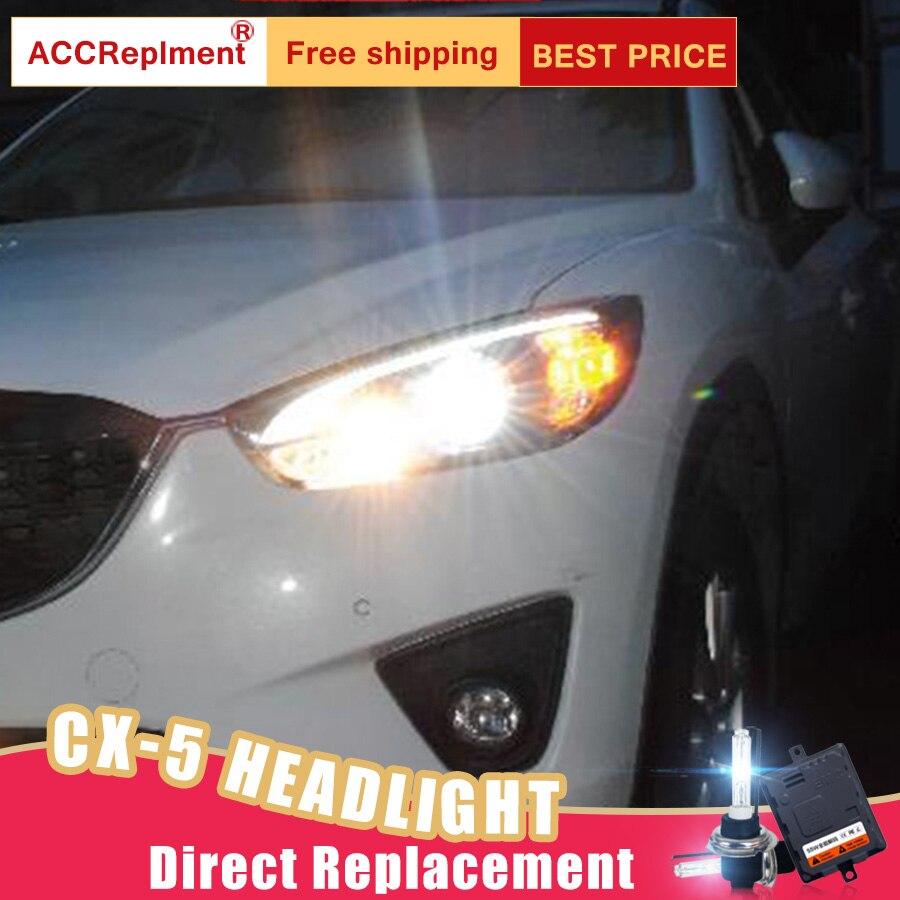 2Pcs LED Headlights For Mazda CX 5 2013 2014 led car lights Angel eyes xenon HID KIT Fog lights LED Daytime Running Lights