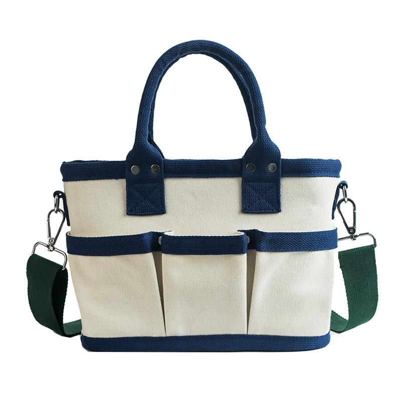 Women's Large-Capacity Canvas Tote Bag Shoulder Bag Multi-Layer Multi-Function Bag Handbag