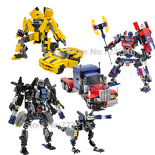 17-24cm 221/377pcs Deformation Car Technic Creative Robot Building Blocks Model Bricks Toys Toy for Children Gifts(China)