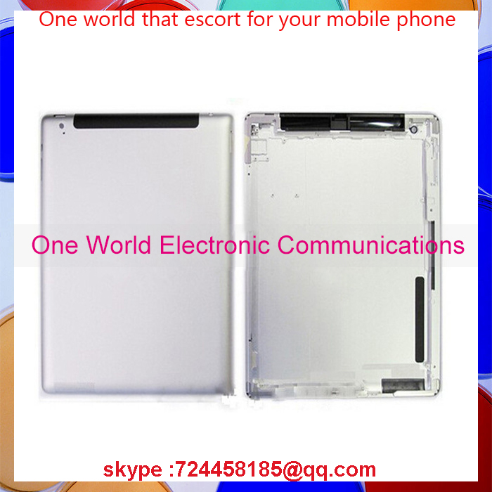 One World Top quality For Ipad 2 ipad 3 ipad 4 Back Rear Housing Cover Battery Door with Logo Wifi Or 3G Version 16GB 32GB 64GB