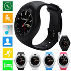 2018 Bluetooth Smart Watch Phone Mate Full Round Screen SIM Camera For Android Jul10