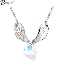 2016 New Fashion Crystal From Swarovski Necklace Heart luxury Selling Romantic pendants women Wedding jewelry Wholesale