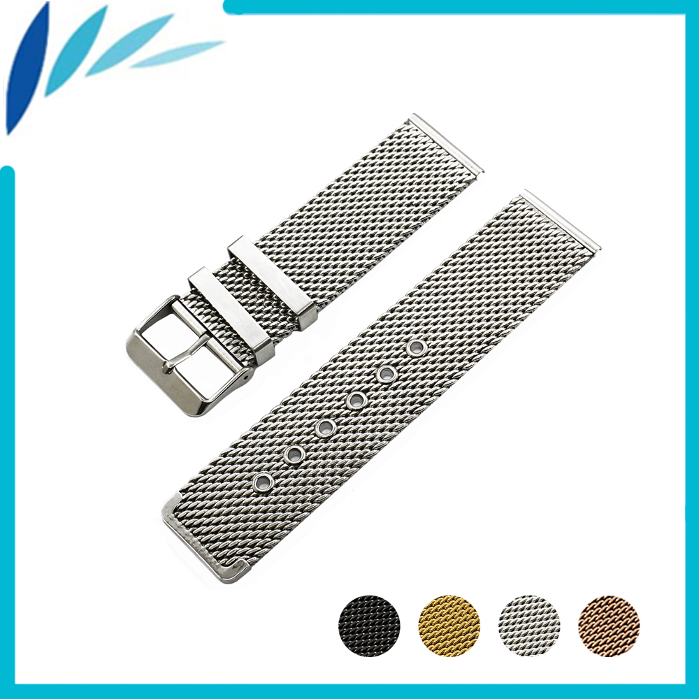 цена на Stainless Steel Watch Band 20mm 22mm for Pebble Time / Round / Steel / Bradley Timepiece Strap Wrist Loop Belt Bracelet + Tool