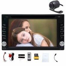 Двойной 2Din автомобиль Авторадио gps-навигация 2 DIN dvd-плеер с Bluetooth стерео видео + камера + Рулевое колесо + gps-навигация