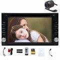 Duplo 2din autoradio de Navegação GPS Do Carro 2 din Carro DVD Player com Bluetooth Estéreo vídeo + Camera + volante + GPS de Navegação
