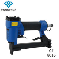 Rongpeng 8016 Furniture Working industrial Crown Stapler  Pnuematic Upholstery Nailer 80 series  21Ga 6 16mm Air Stapler Nailer|crown stapler|upholstery staplerair stapler -