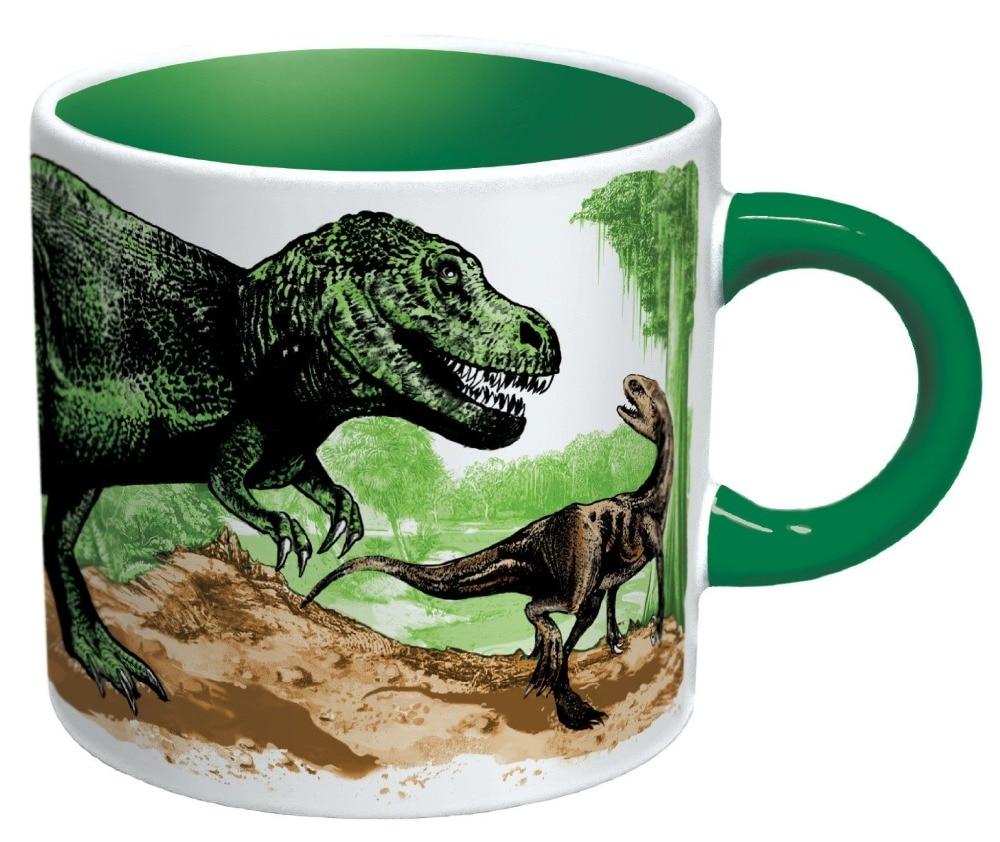 Disappearing Dino Mug Heat Sensitive Color Changing Coffee Mug Add
