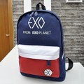 Korean fashion EXO backpack canvas school bag for teenagers color block female backpack bag personality bagpack mochila escolar