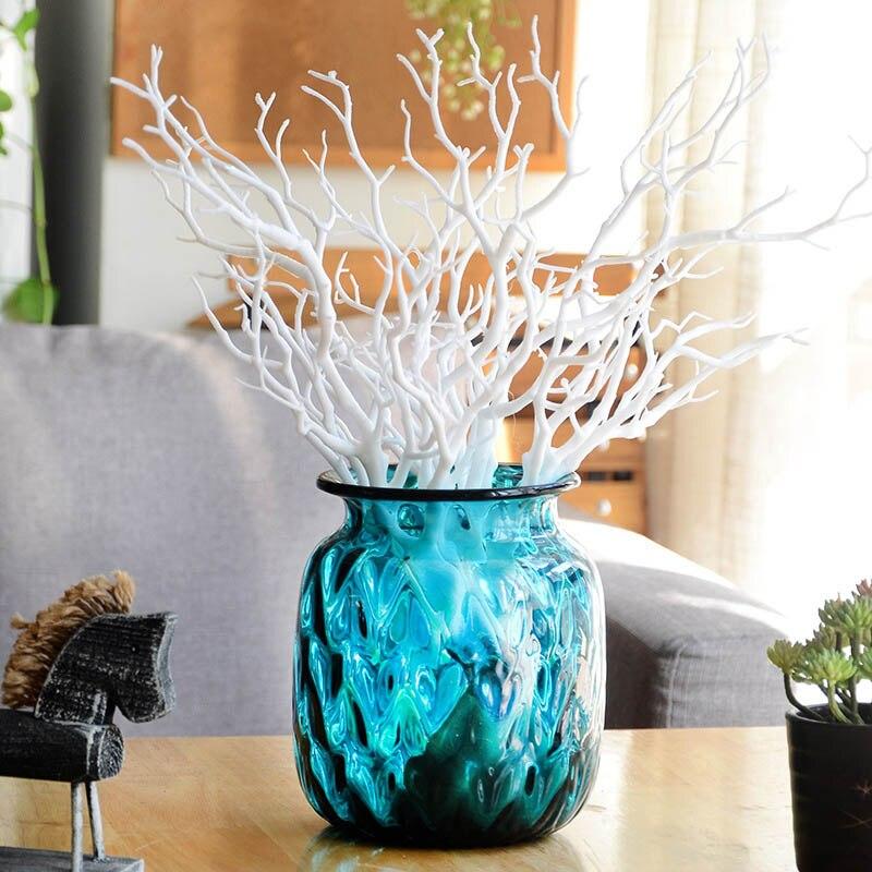 Пластиковые растения искусственные, свадебные украшения сушеное дерево домашний декор Павлин коралловые ветви J2Y - Цвет: 3