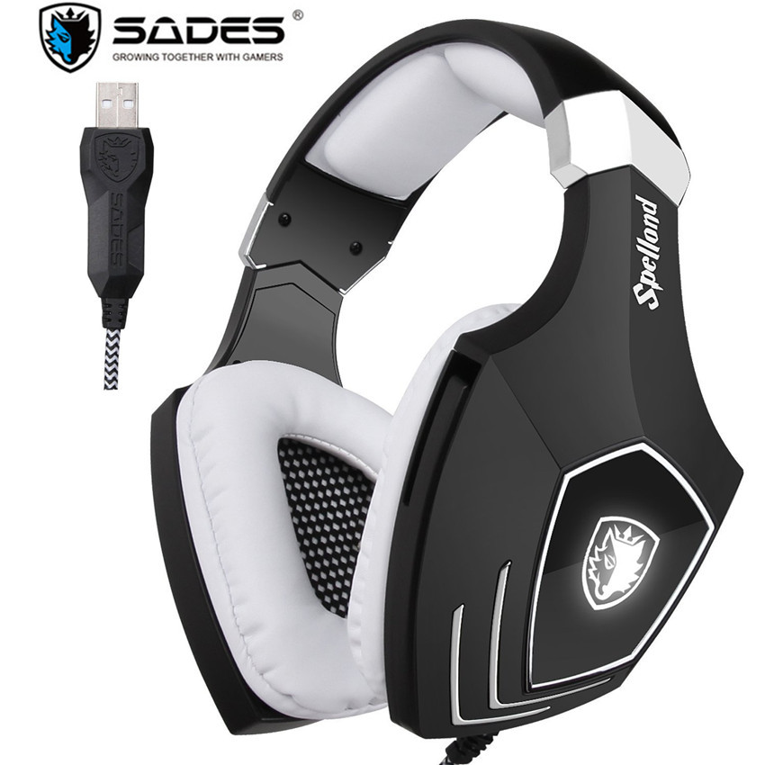 Sades A60S/OMG USB Gaming Headphones for Computer Laptop PC Gamer Game Headset Best Bass Casques with Microphone Noise Isolating high quality gaming headset with microphone stereo super bass headphones for gamer pc computer over head cool wire headphone