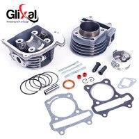 Glixal gy6 100cc 50 ملليمتر سكوتر محرك 139qmb 139qma الدراجة 4-stroke كبيرة تتحمل اسطوانة إعادة كيت الاسطوانة آسى (69 ملليمتر صمام)