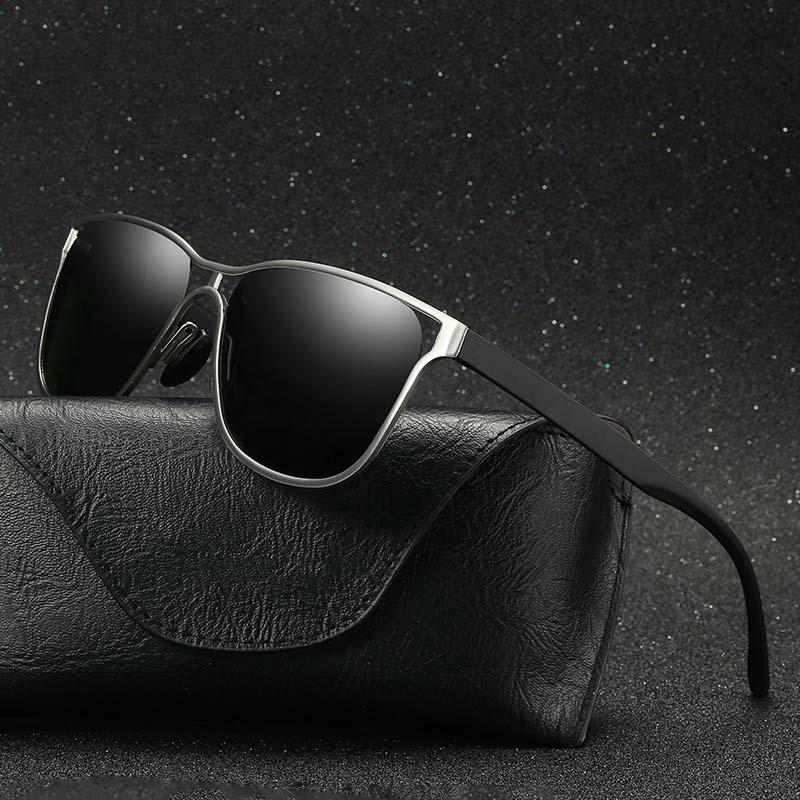 Мужские поляризованные солнцезащитные очки из алюминиевого сплава рамка металлические полые солнечные очки поляризованное зеркало УФ дра