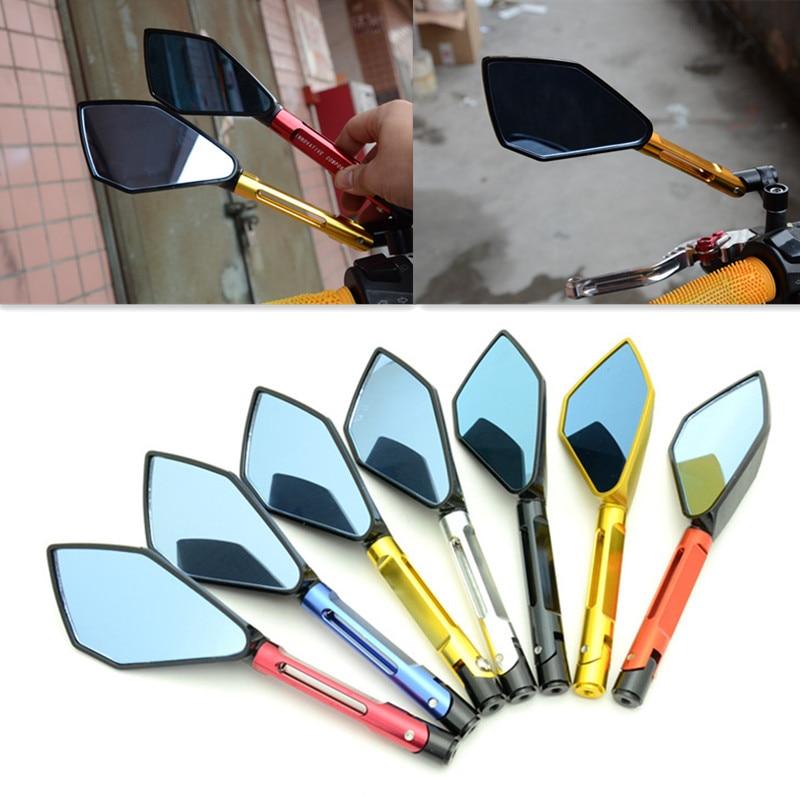 2x CNC motociklu sānu spoguļi lielāki atpakaļskata spoguļi Honda - Motociklu piederumi un daļas
