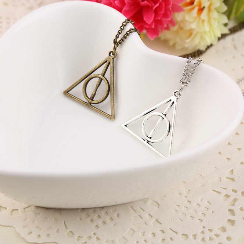 Złoto srebro brąz kolor prosty trójkąt naszyjnik dla mężczyzn akcesoria urok wisiorek oświadczenie Bijoux Femme prezent