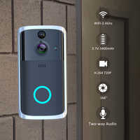 Smart Video Wireless Battery WiFi Door Bell Two-Way Audio App Control Night Vision IR Visual Camera Record Security System