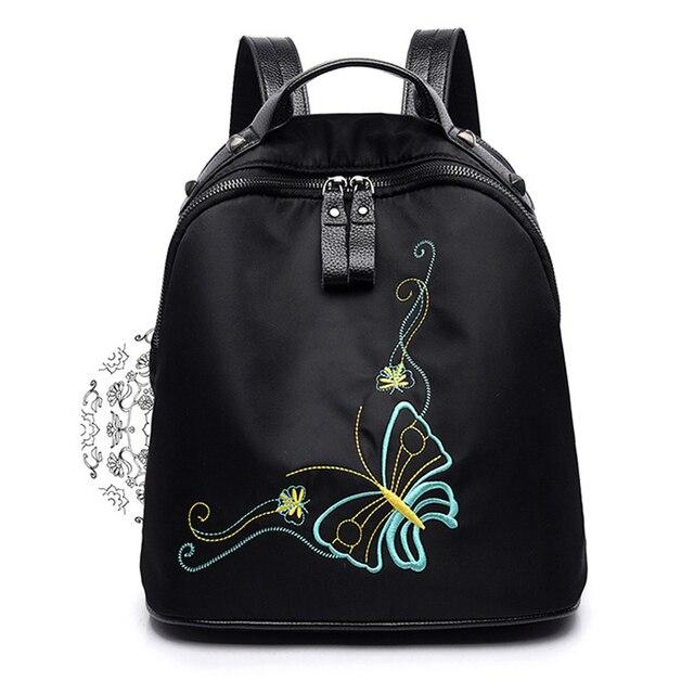 para bordado adolescentes robo niñas mochila la mochila Mochila con Anti para escolar moda a qS6xPYw