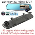 car accessory 4.3'' inch Dash Cam Car Rearview Mirror Camera 140 degree wide viewng angle Video Recorder Car DVR HD Camcorder