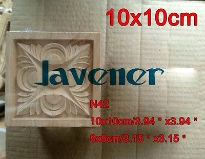 Baumaterialien N42-10x10 Cm Holz Geschnitzte Lange Platz Applique Blume Rahmen Tür Aufkleber Arbeits Carpenter