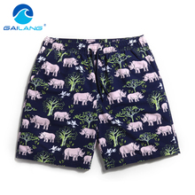 Gailang Brand Quick drying men beach shorts Swimwear Swimsuits Man boardshorts polyster Man new Trunks Bermuda
