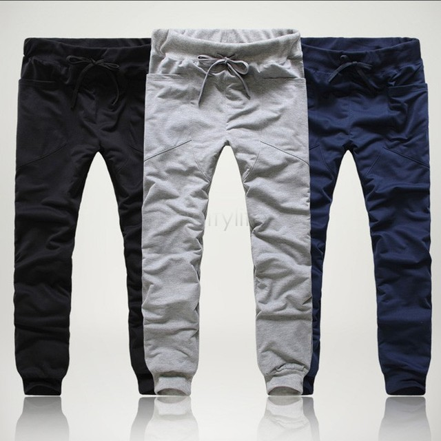 Free Shipping Clothing Pants Men Casual Dance Trousers Men's Clothing Cotton Boys Mens Pants Sweatpants US M-XL 3 Colors 24