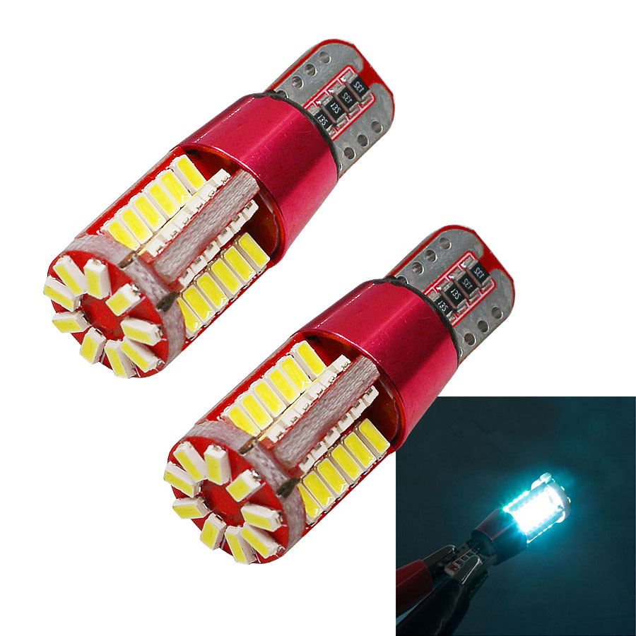2PCS T10 168 192 W5W 3014 57smd led super bright CANBUS NO Error Car marker Auto Wedge Clearance Lights  parking lamps 12V deechooll 2pcs wedge light for mazda 2 3 5 6 mx5 rx8 cx7 626 gf gg ge gw canbus t10 57smd 6w led clearance xenon lighting bulbs