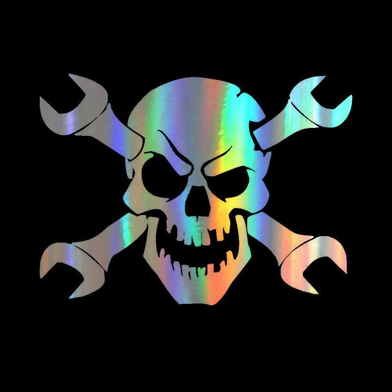 Buy 3 Get 5 Buy 5 Get 10 Mechanic Wrench Skull Decal Sticker Buy 2 Get 3