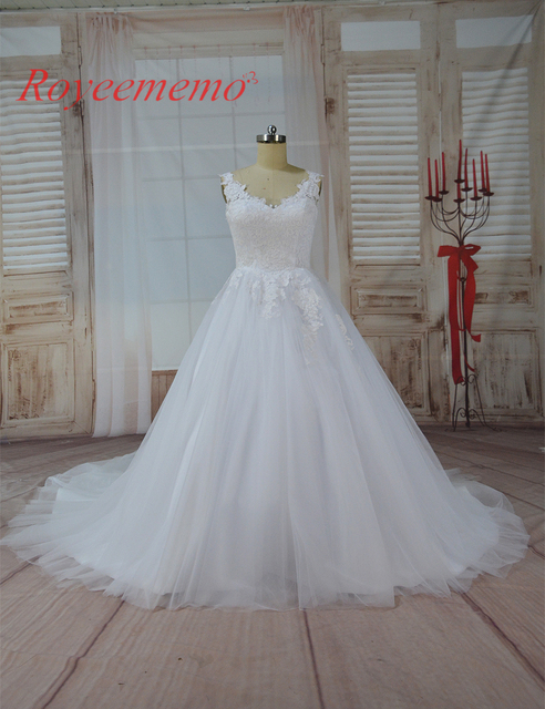 2017 hot sale shoulder straps special cotton lace Wedding Dress ...