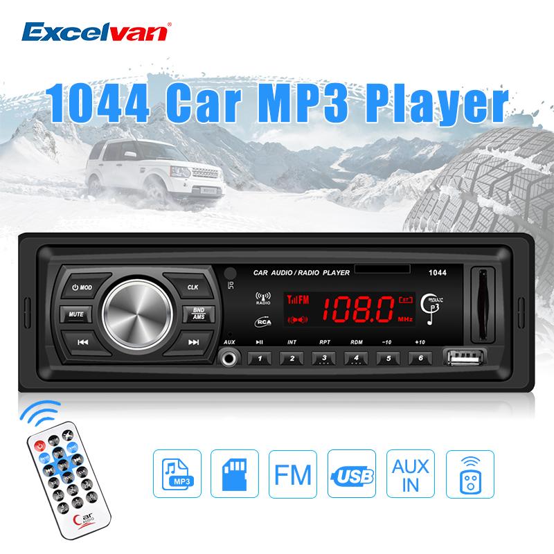 Prix pour 1 DIN 12 V Voiture Médias Récepteur Lecteur MP3 FM Radio LED affichage Soutenir La Lecture de Musique USB SD MMC Entrée AUX Télécommande